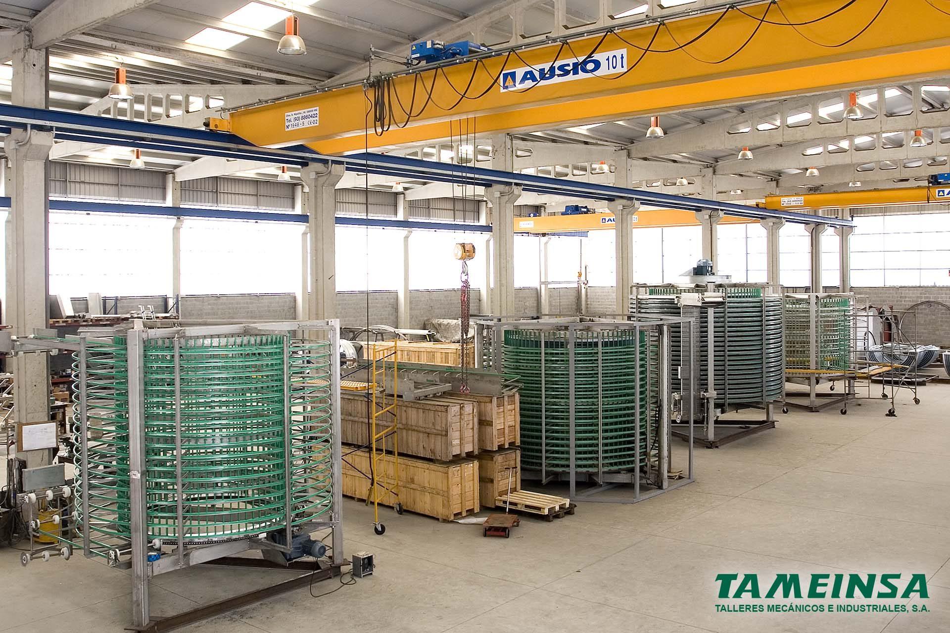 Túneles en las instalaciones de Tameinsa